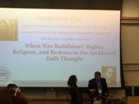Dr. Anupama Rao's keynote: connections between Dalits