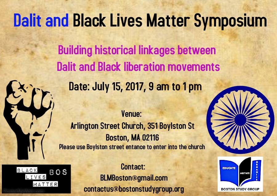 Dalit and Black Lives Matter Symposium